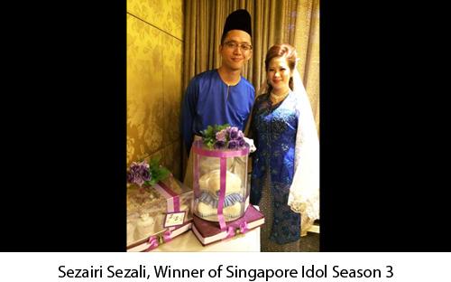 Sezairi - Wedding Cakes Singapore1